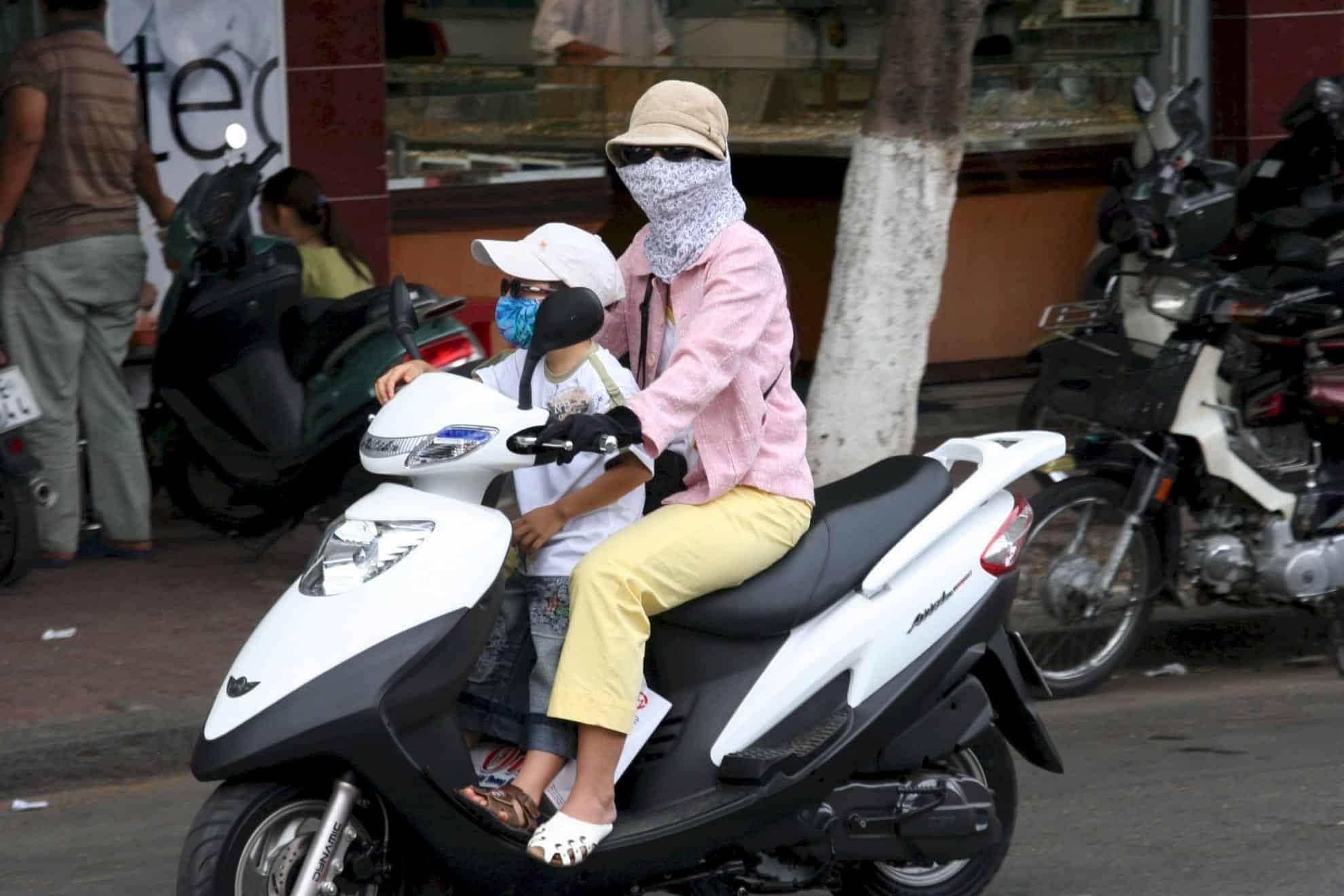 Children aboard Motorcycles